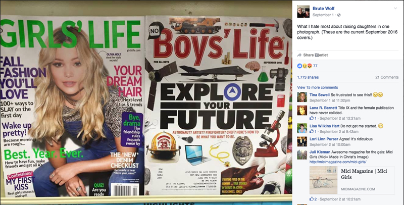 """Girls should """"Wake Up Pretty"""" and boys should explore their future."""