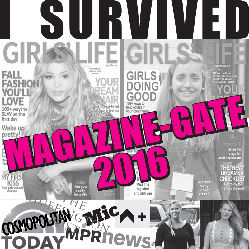 "A friend of mine Lauren, coined the words ""Magazine-Gate"" and I found it hilarious."