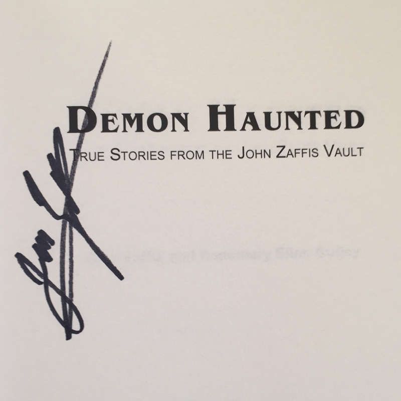 John Zaffis signed a copy of his book for me.