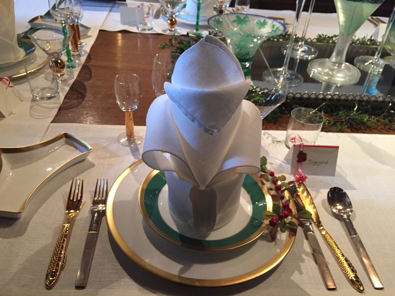 The Swiss place settings are the same ones used for the 2016 Nobel banquet.