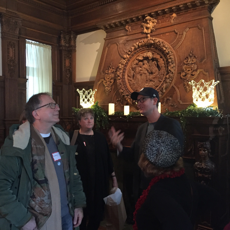 Our tour guide talking about the original family.