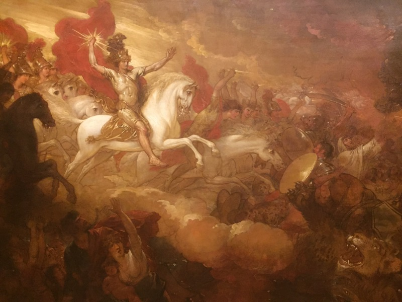 A classic subject oil painting by Benjamin West.