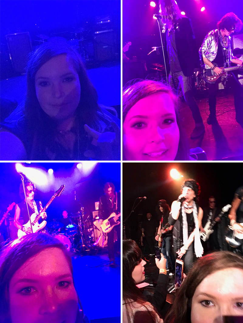 """Shameless """"Look how close front row is"""" selfies."""