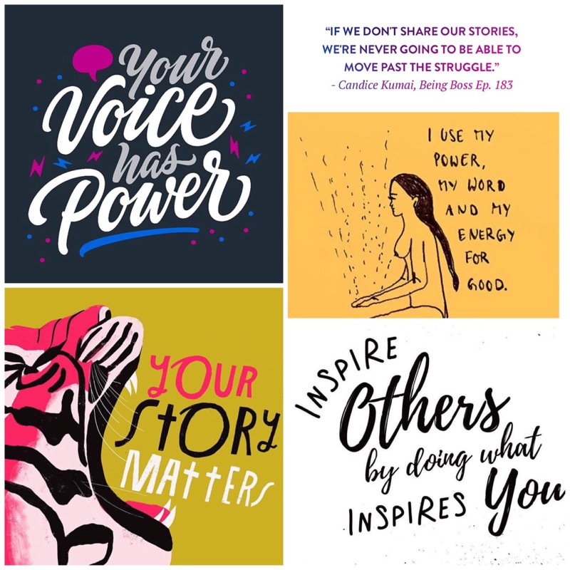 Just some of the posts I have recently seen online championing the power your truth can have for others. These images were found online posted by  @ianbernard ,  @beingbossclub ,  @lisacongdon , and the two images are from unknown artists.