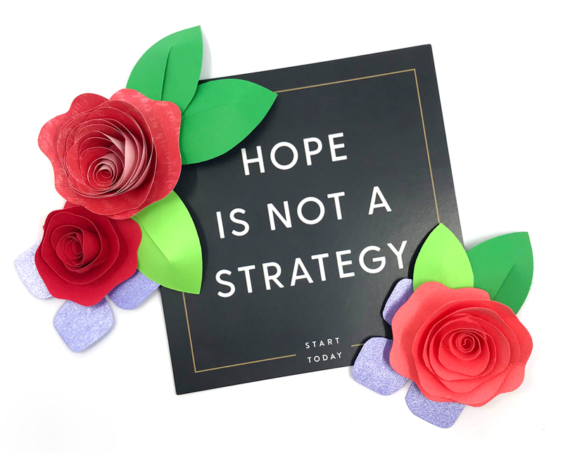 "One of my favorite quotes. ""Hope is not a strategy"" - Rachel Hollis"