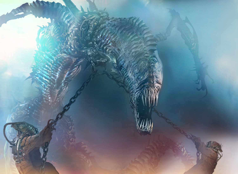 Chained Throatseeker (Creature - Horror)