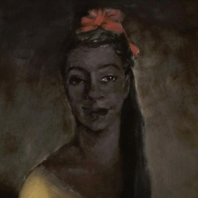 All That We May Afford, 2006, Lynette Yiadom-Boakye ⠀⠀⠀⠀⠀⠀⠀⠀ ⠀⠀⠀⠀⠀⠀⠀⠀ #hairhistory #hairstyle #vintagehair #arthistory #thehairhistorian #LynetteYiadomBoakye