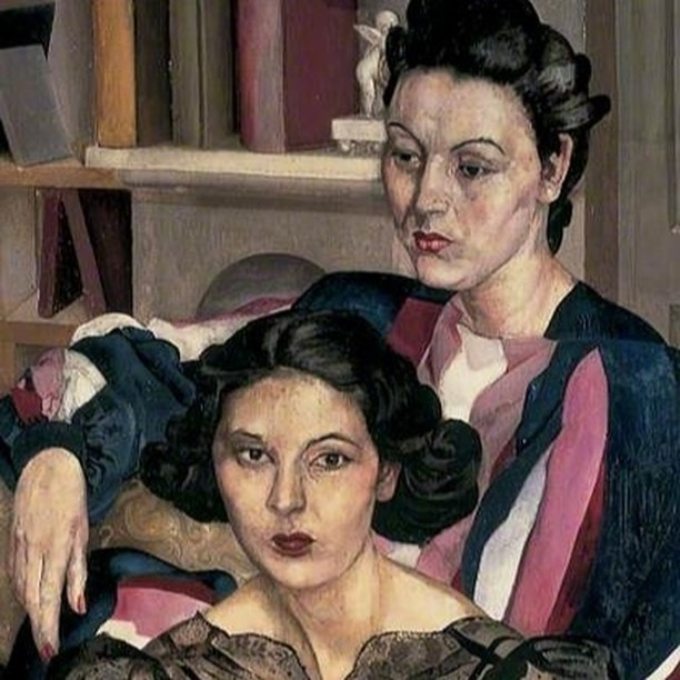 The Sisters, 1940, Stanley Spencer ⠀⠀⠀⠀⠀⠀⠀⠀ ⠀⠀⠀⠀⠀⠀⠀⠀ #hairhistory #hairstyle #vintagehair #arthistory #thehairhistorian #StanleySpencer