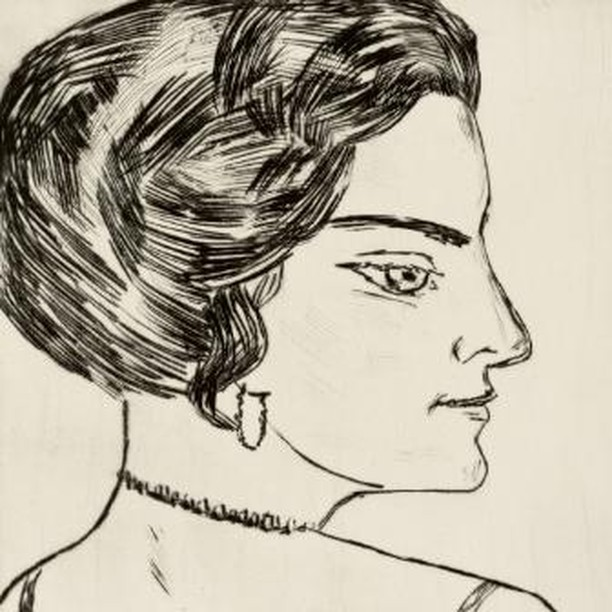 Naila in Profile, 1923, Max Beckmann ⠀⠀⠀⠀⠀⠀⠀⠀ ⠀⠀⠀⠀⠀⠀⠀⠀ #hairhistory #hairstyle #vintagehair #arthistory #thehairhistorian #MaxBeckmann