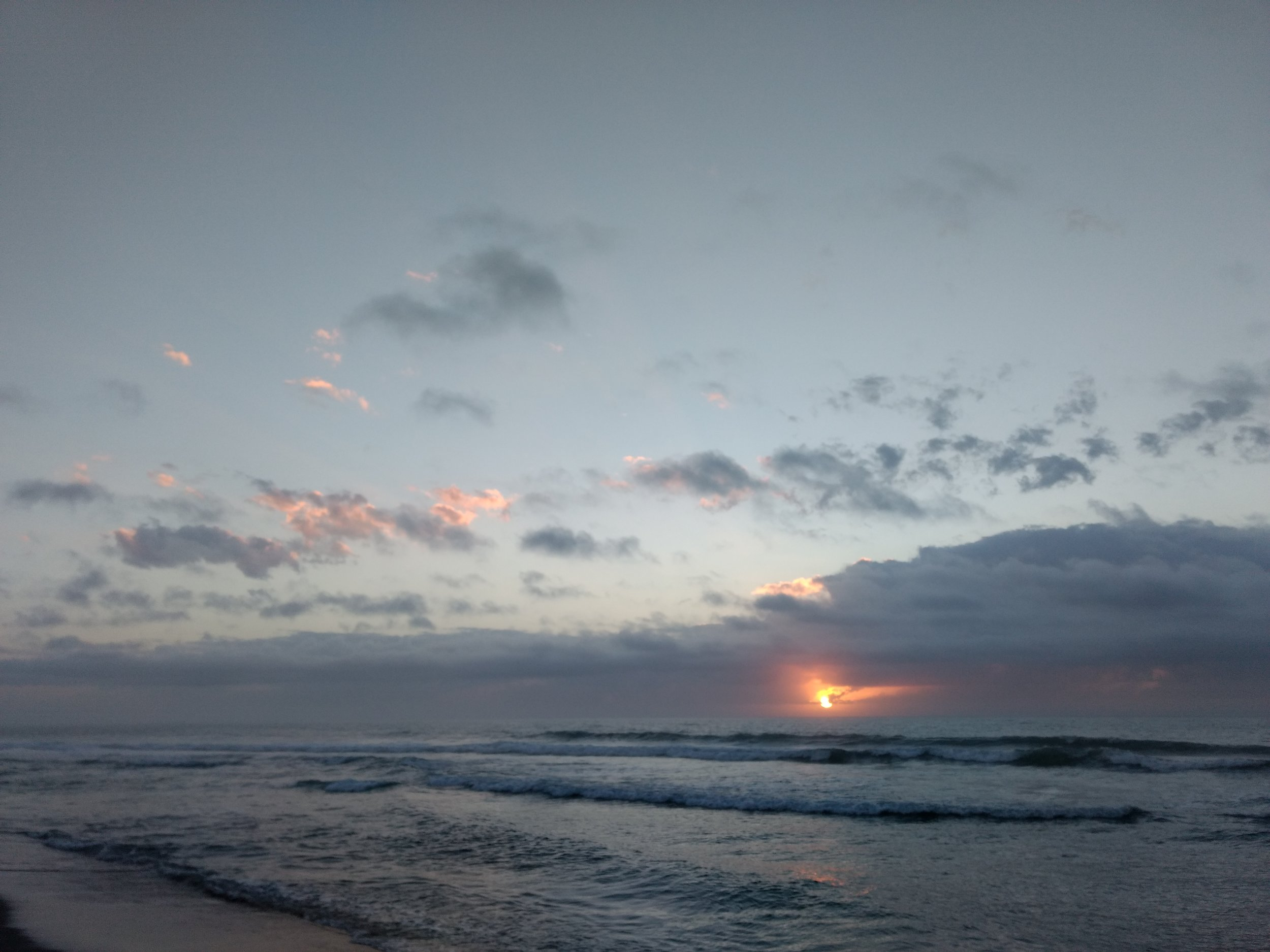 the sunrise at Wrightsville beach!
