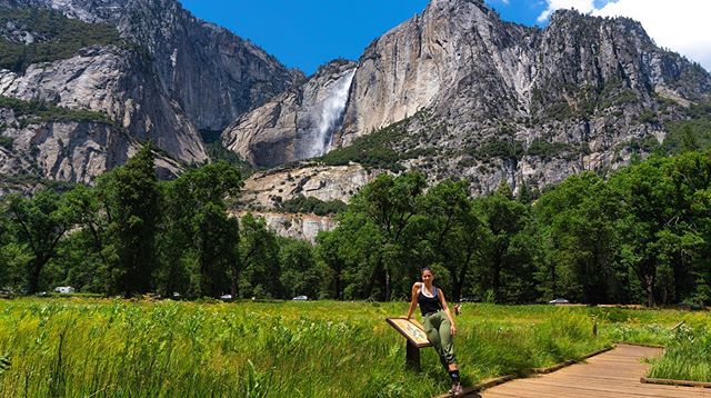 I could insert the usual pretty quote about nature here, and man was Yosemite pretty... fucking beautiful. . . However, I'd rather offer some practical advice this time around and suggest that if you want to truly experience this majestic place, avoid the peak summer months, the weekend, and go before 9am. . The entire time I was there I couldn't help but think about what it must have been like to be one of the first explorers of this place. To have a moment, a day, a week here entirely to yourself.... . Instead I spent an hour in bumper to bumper traffic around the perimeter, finding parking, and walking past hoards of disgruntled faces, looking miserable or down to their screens. . . Final thoughts: see it no matter what... but avoid the crowds if you can! . . Also, fun fact: America's tallest waterfall flowing ever so gracefully behind me!