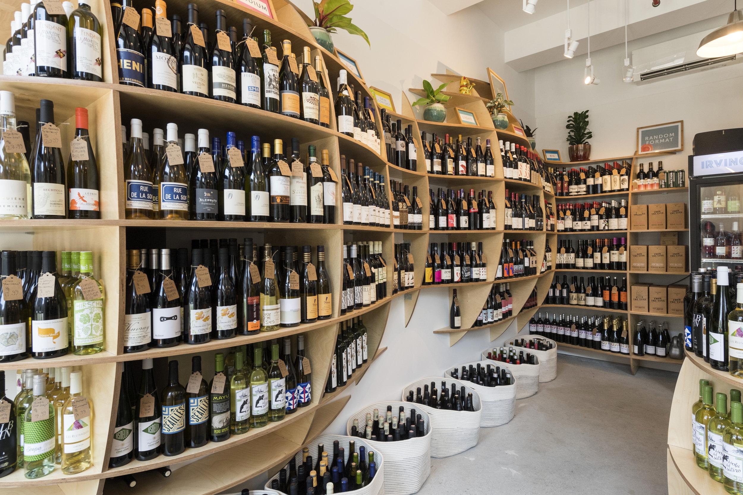 Irving Bottle interior - wine
