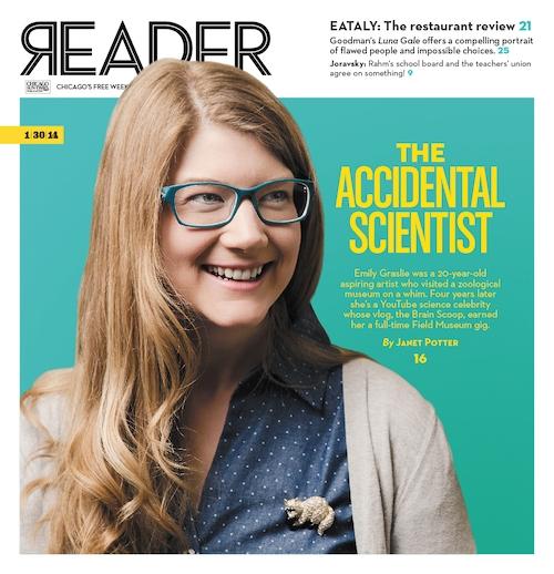 Chicago Reader cover story, February, 2014.