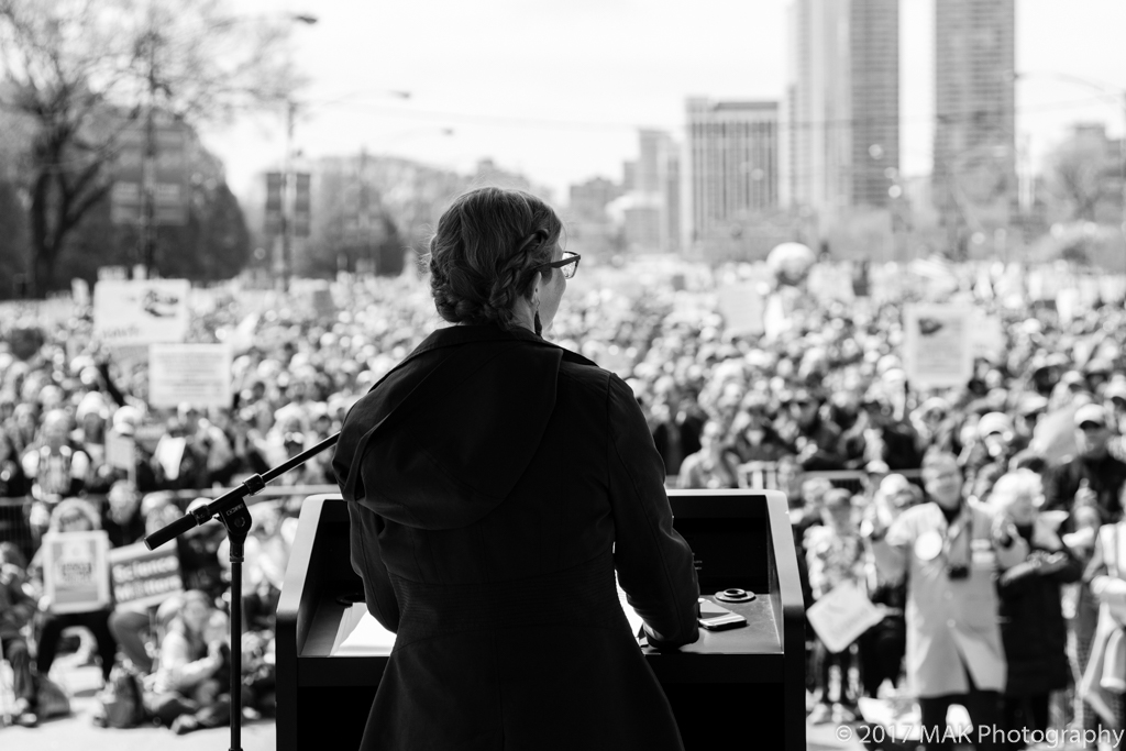 Emily was the keynote speaker for Chicago's first March for Science in 2017.  Photo © MAK Photography