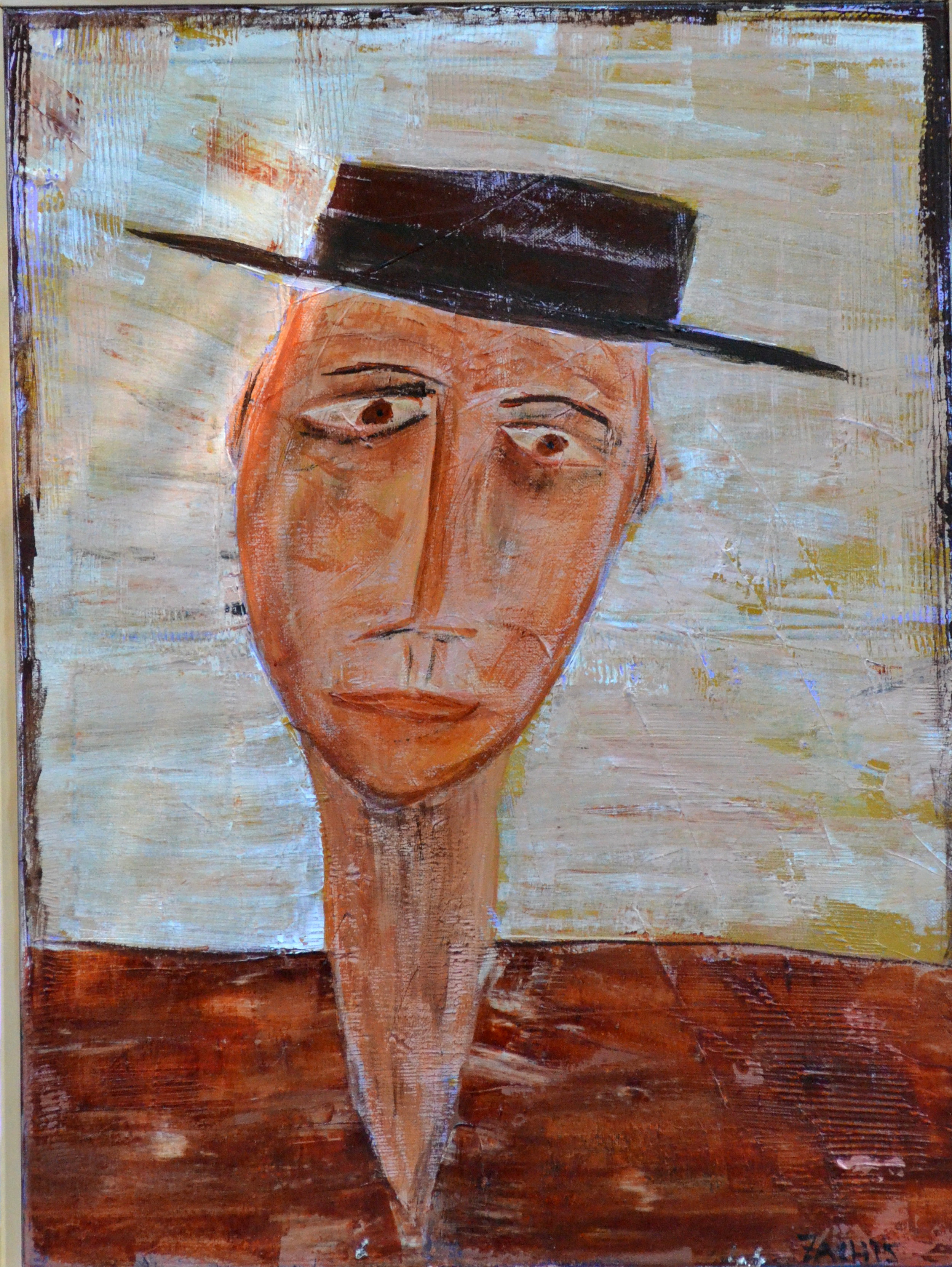 Man in Hat #2 (2015, 18 by 24)
