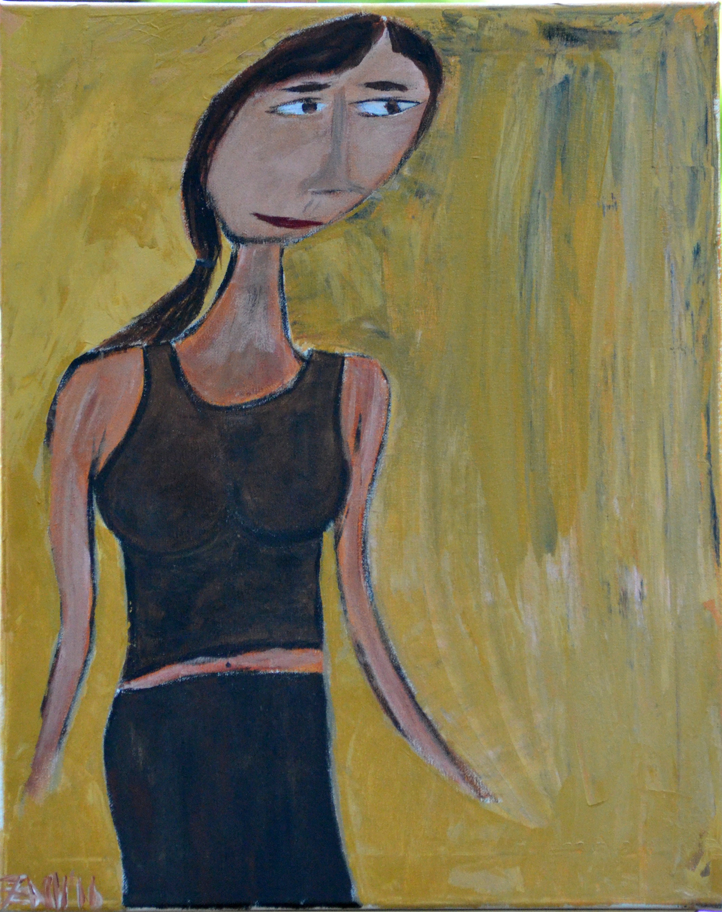 Woman (2016, acrylic, 16 by 20)