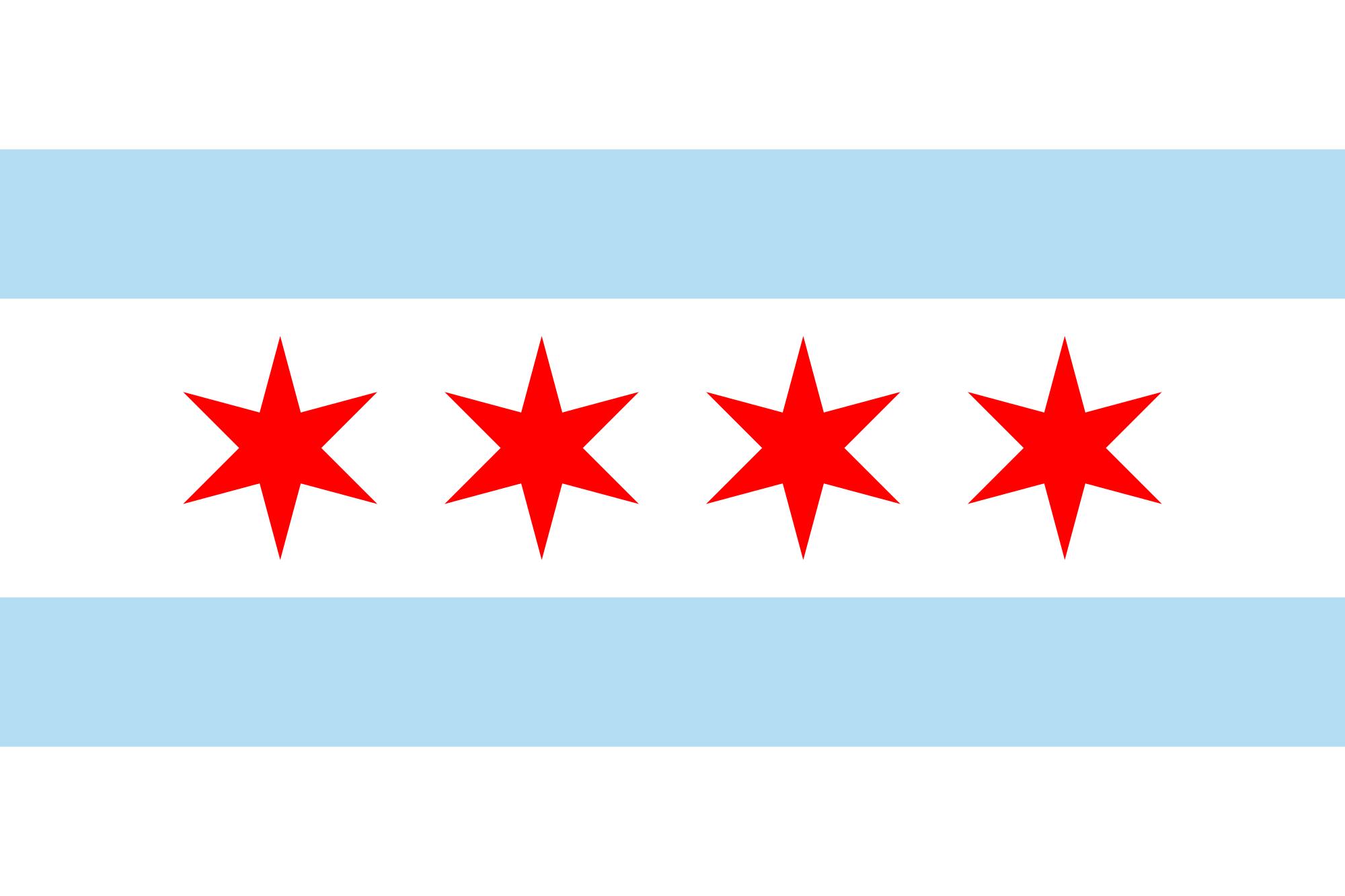 Iconic Chicago Flag
