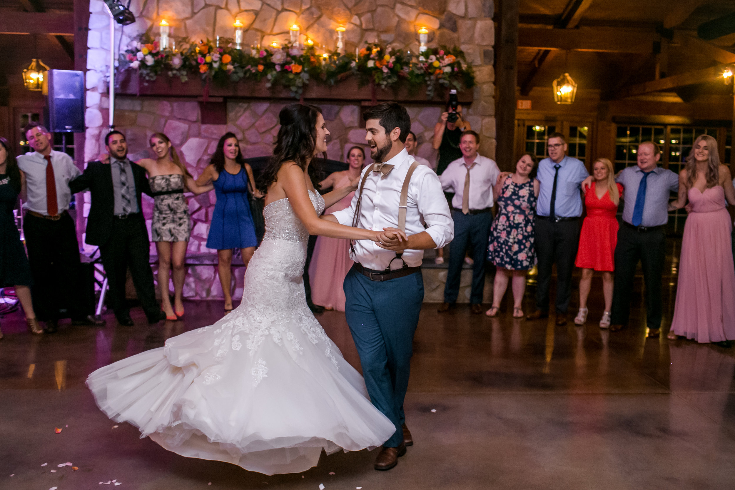 Couple doing their first dance