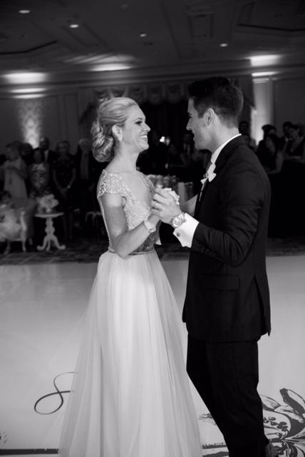 Wedding Couple dancing together