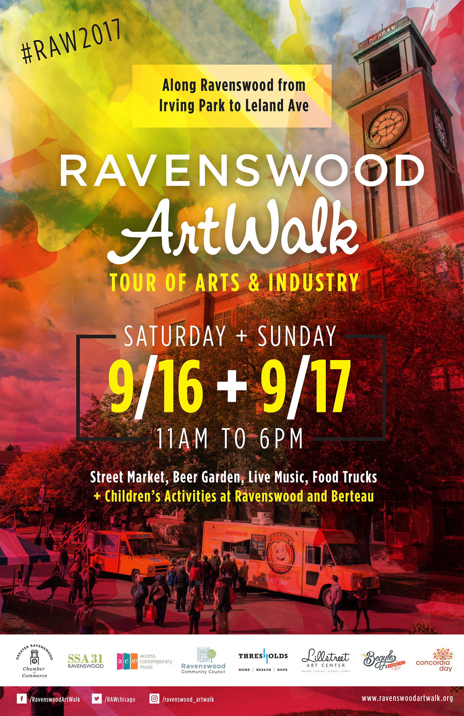 Ravenswood Art Walk, the annual tour of arts and industry in the Ravenswood neighborhood