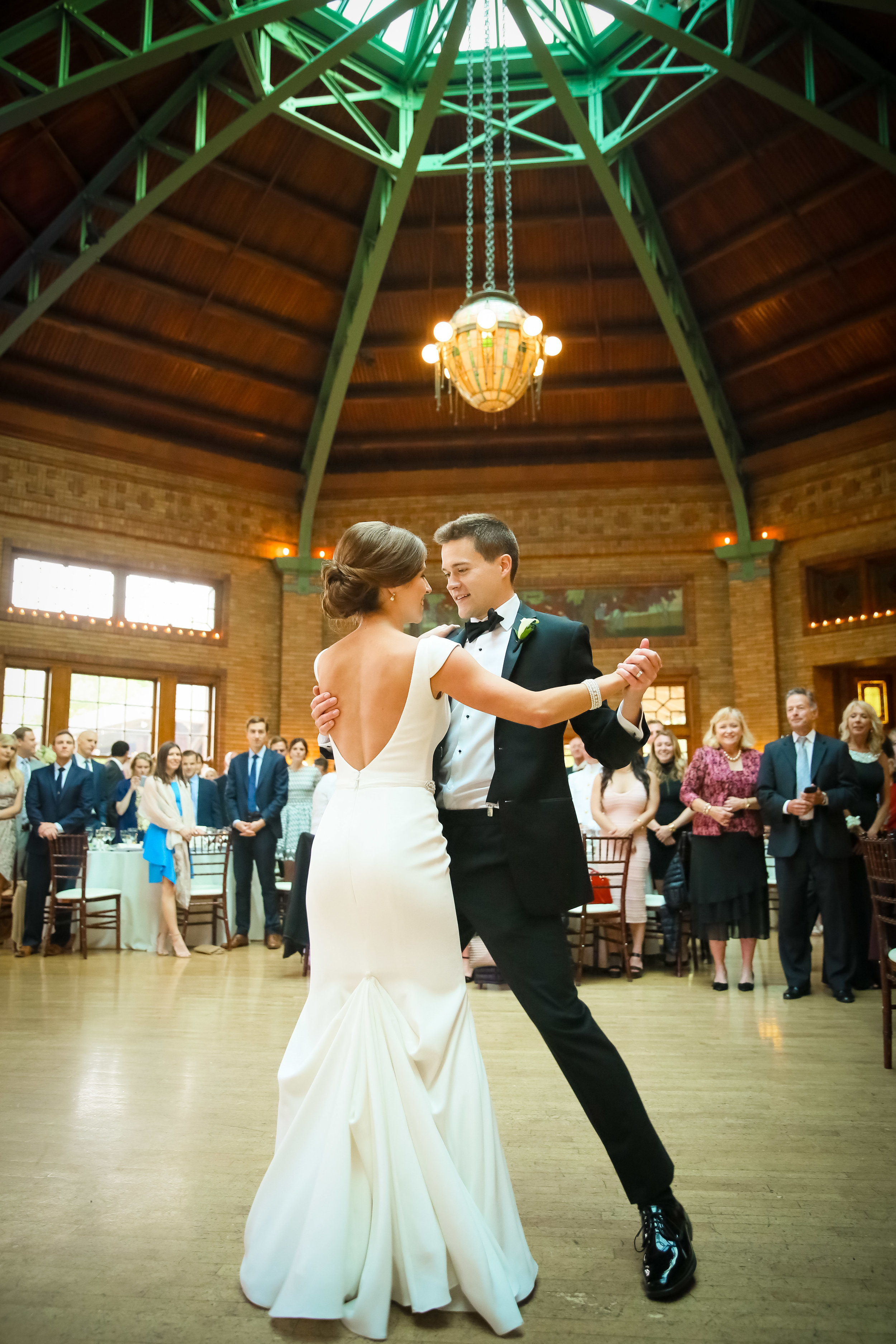 Ballroom first dance between bride and groom