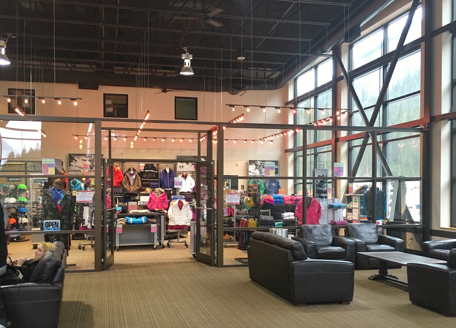 The new retail area at Creekside Lodge