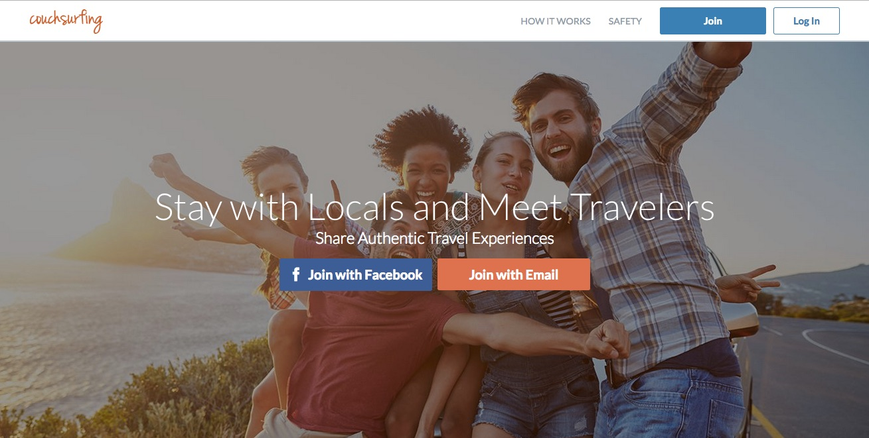couchsurfing website