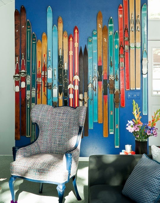 wall art with skis