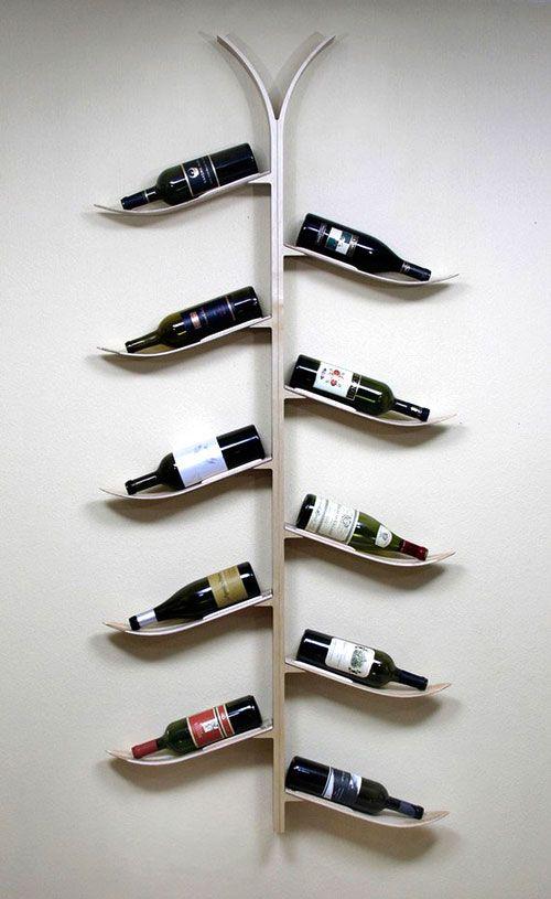 ski wine rack