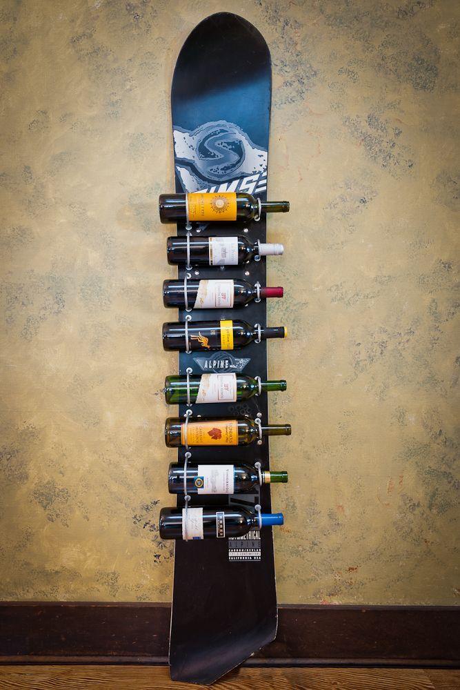 Snowboard Wine Rack