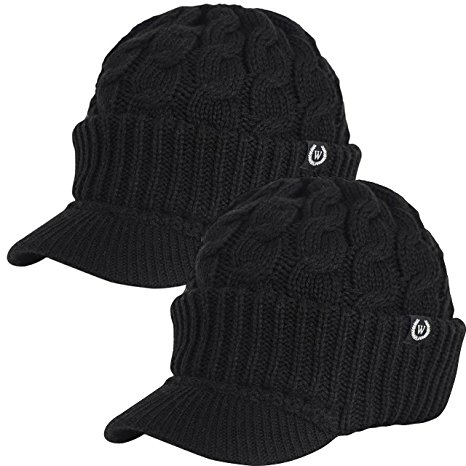 Newsboy Cable Knitted Hat