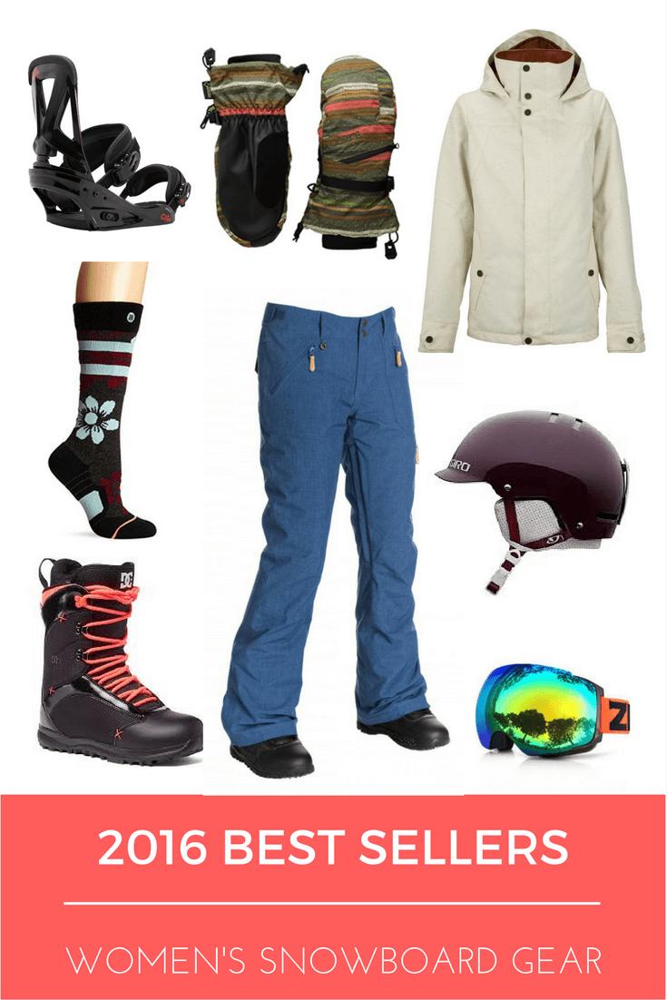 2016 Best Selling Women's Snowboard Gear