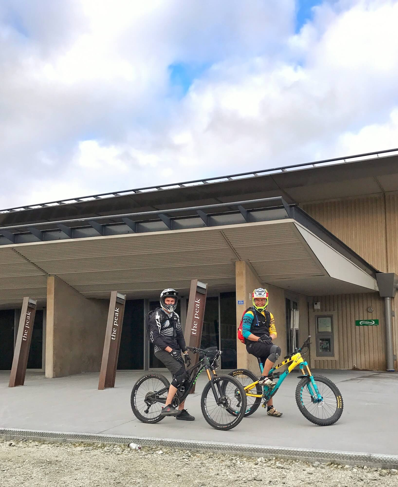 CORONET PEAK SKI RESORT DAY LODGE - BEGINNING OF MANY AWESOME TRAILS, INCLUDING CORONET PEAK XC COURSE, RUDE ROCK AND COROTOWN.