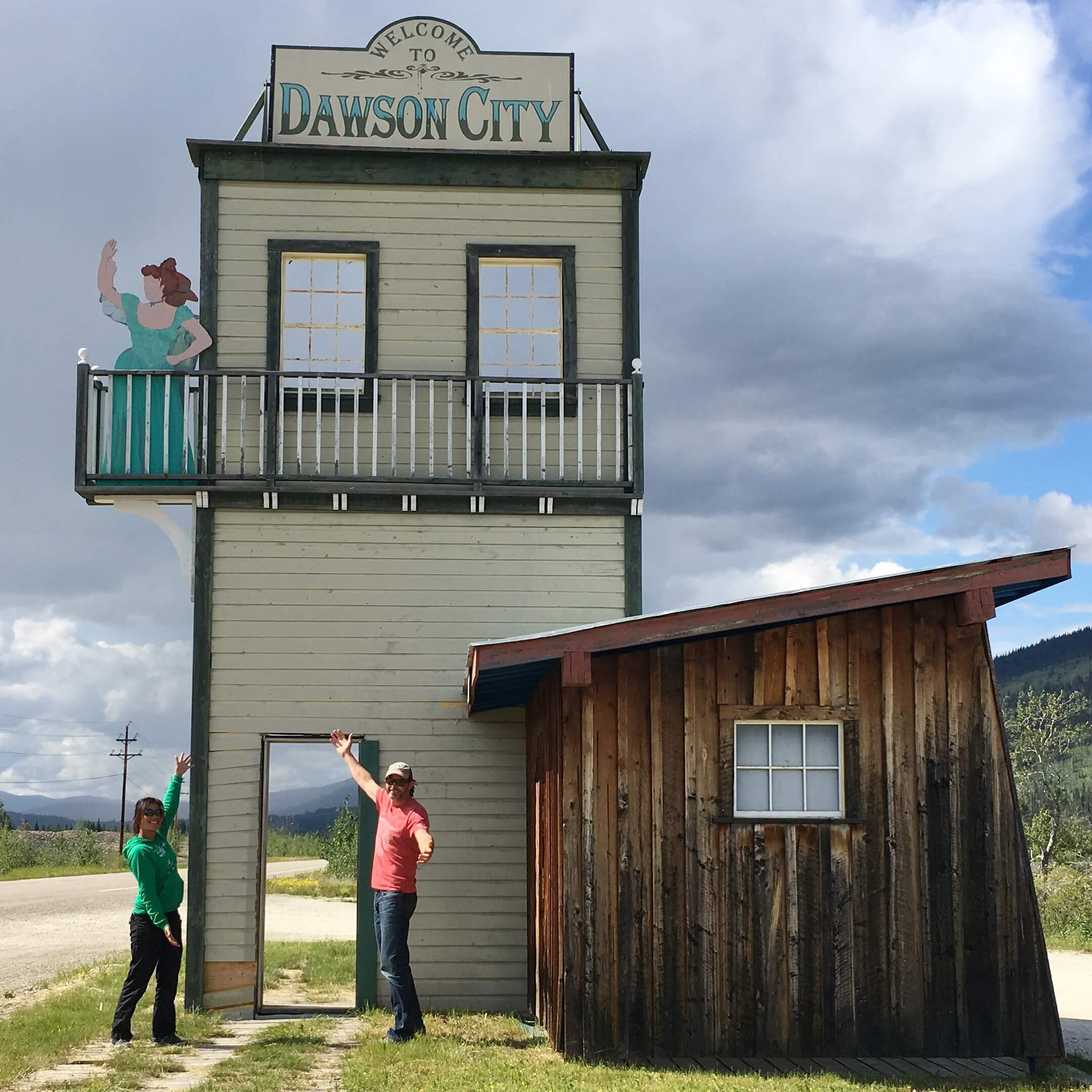 dawson city weclome sign