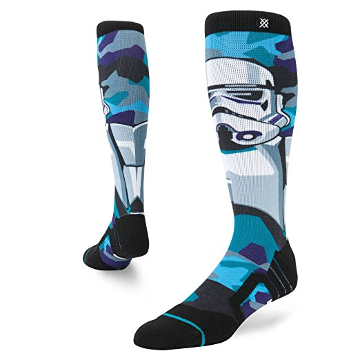 Stance Snow Socks - Stance socks are both functional and totally rad! Aside from their extremely cool designs, they feature:- Flat-linked toe seams for against-the-skin comfort- Reinforced heel and toe for added durability- Anatomical cushion design circulates air for a breathable wear
