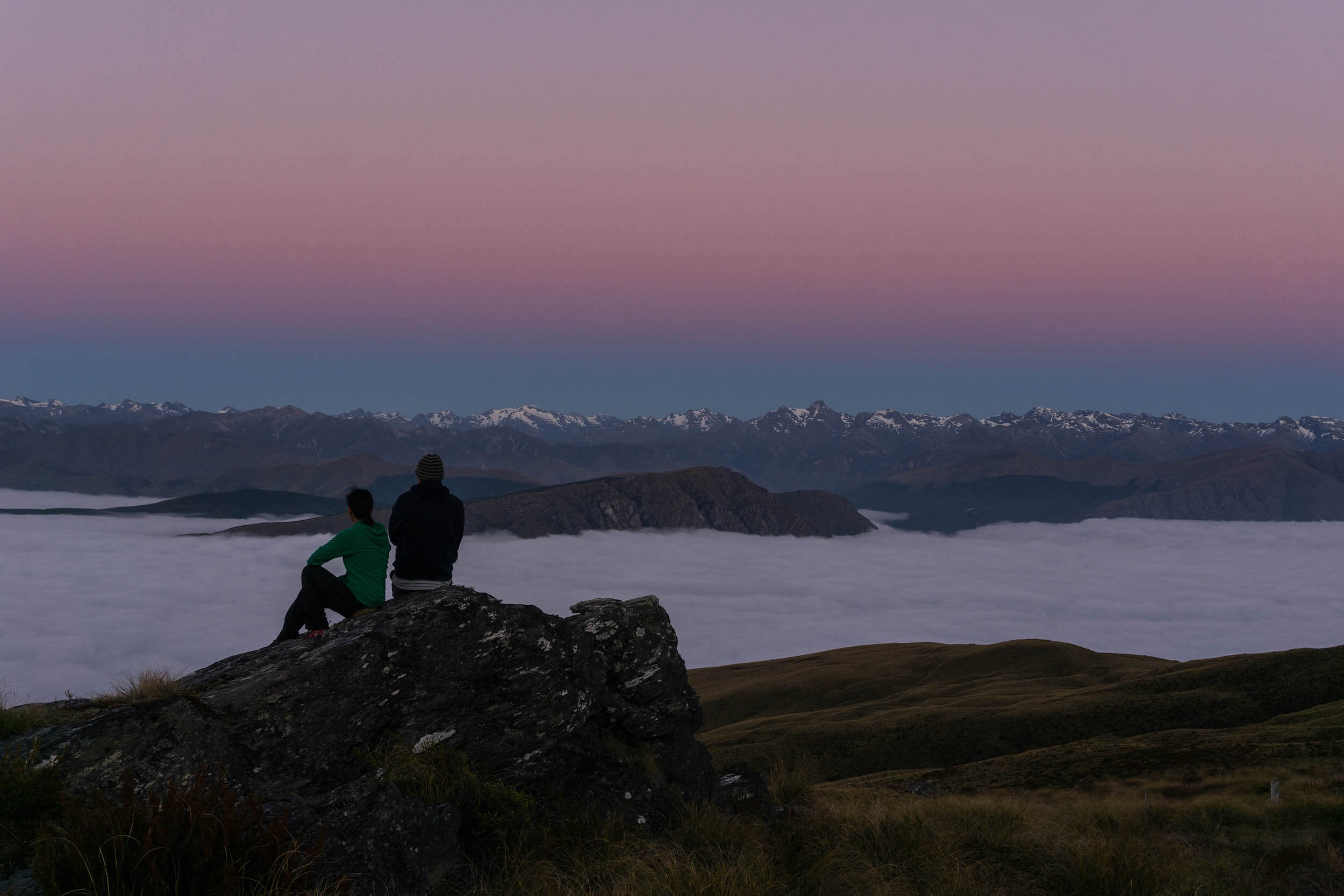 STAY OVERNIGHT TO WAKE UP TO AN AMAZING SUNRISE. WE WERE ALSO LUCKY ENOUGH TO WITNESS A CLOUD INVERSION