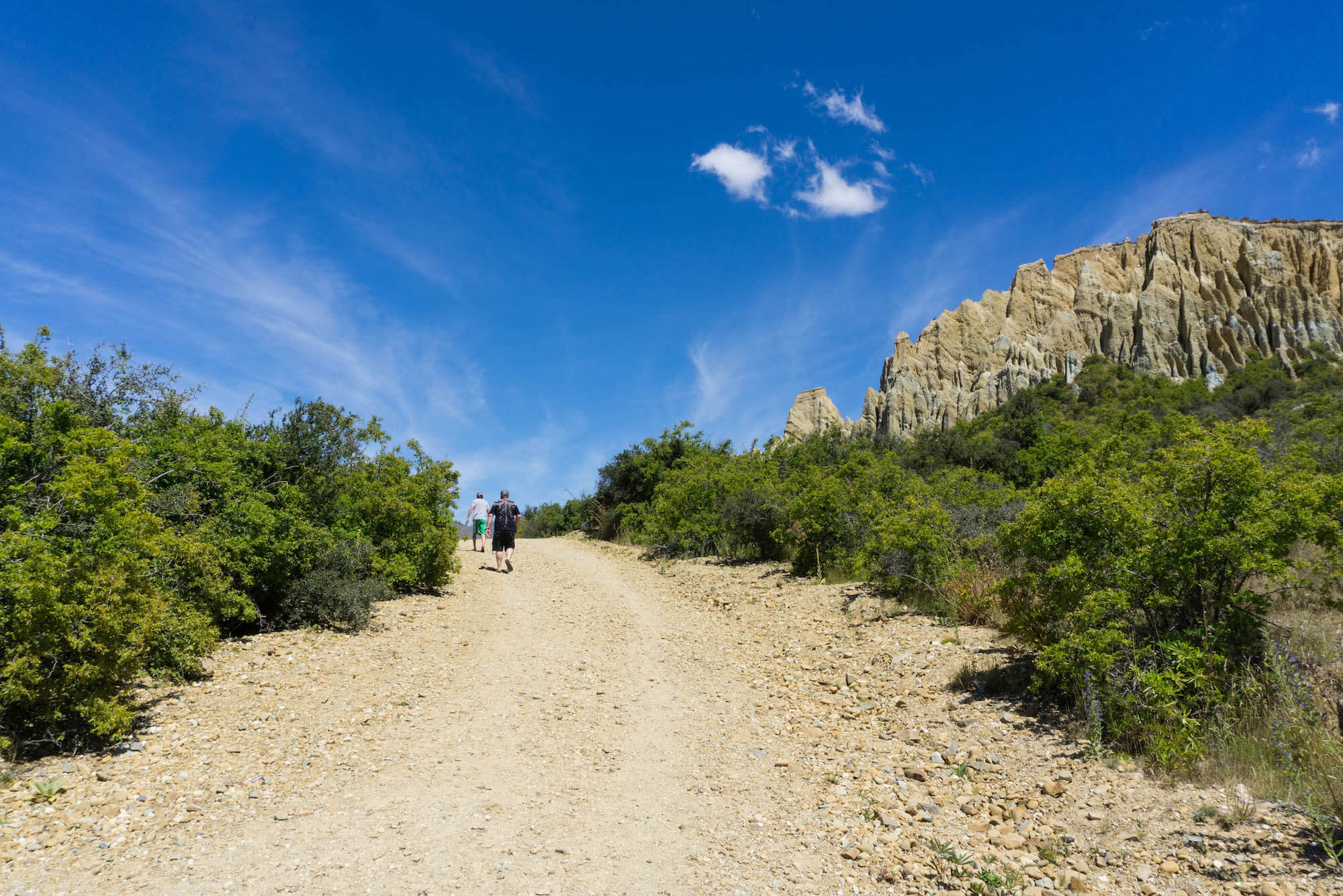 Walking on Clay Cliff trail