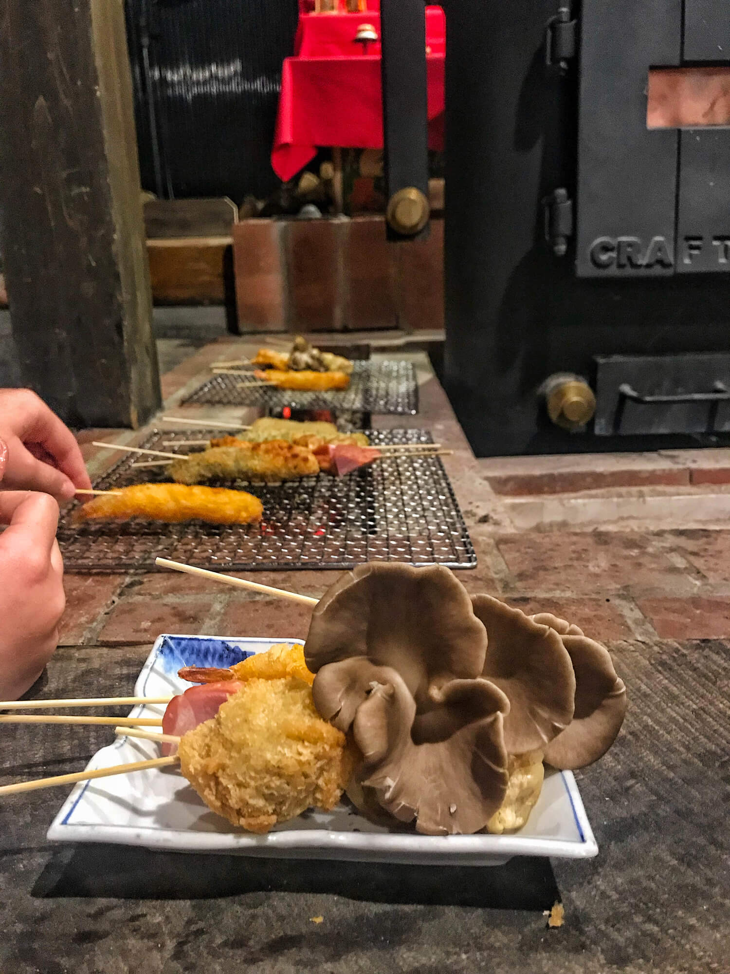 JAPANESE SKEWERS COOKED ON HOT COALS