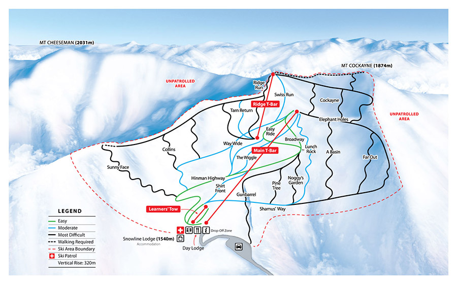 MT CHEESEMAN TRAIL MAP.