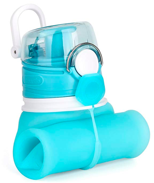 Foldable Water Bottle - If you have decent sized pockets, there are a bunch of foldable water bottlesavailable now. They slip into your pocket and when you have finished, you can fold them up so that they take up a minimal amount of space.I am not a fan of using plastic due to the chemicals that may leach into the water, so at the very least look for BPA free products or even better, food grade silicone.