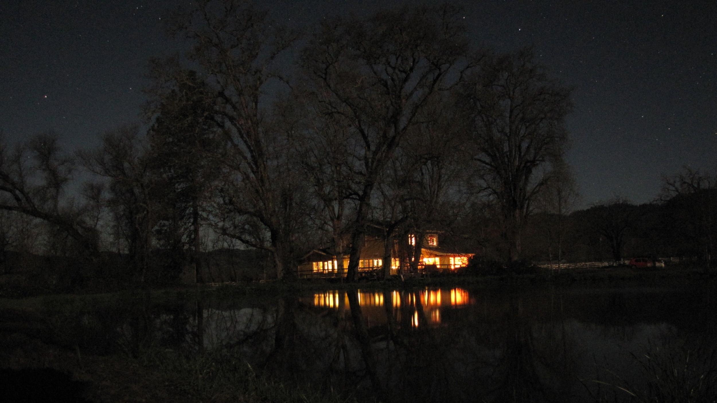 The Farmhouse at night