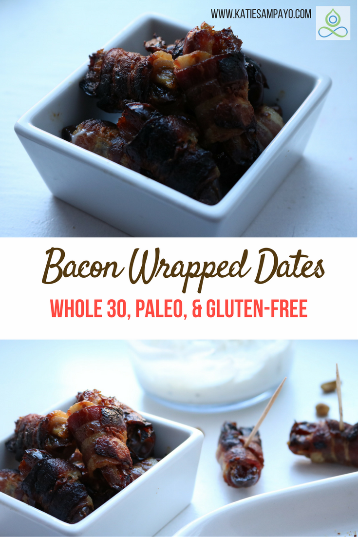 Bacon Wrapped Dates- Whole30, Paleo, and Gluten-Free