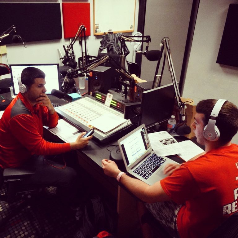 Hosting  The Mic Check  with Mike Yourstowsky on Youngstown State's student radio station, Rookery Radio.