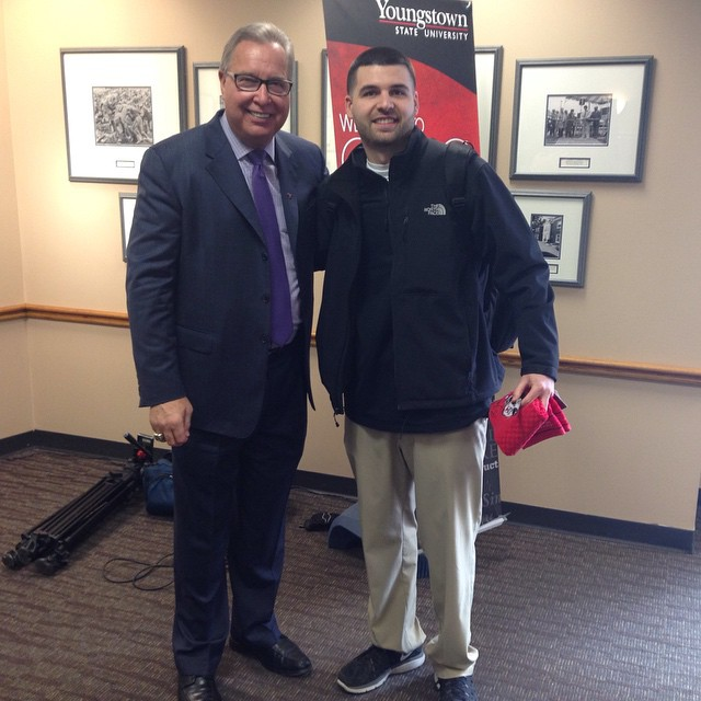 with former NFL QB, ESPN NFL Analyst & Youngstown State Alum Ron Jaworski.
