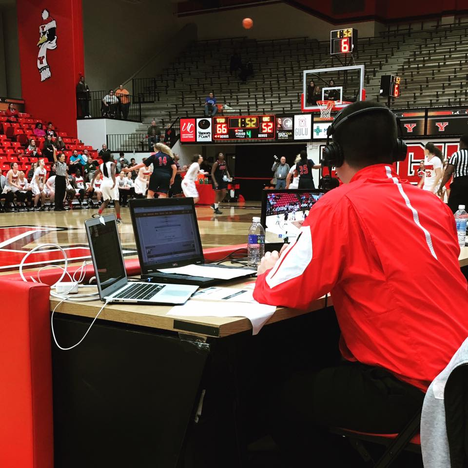Broadcasting a Youngstown State Women's Basketball game vs. UIC on January 12, 2017 for ESPN3/WatchESPN.