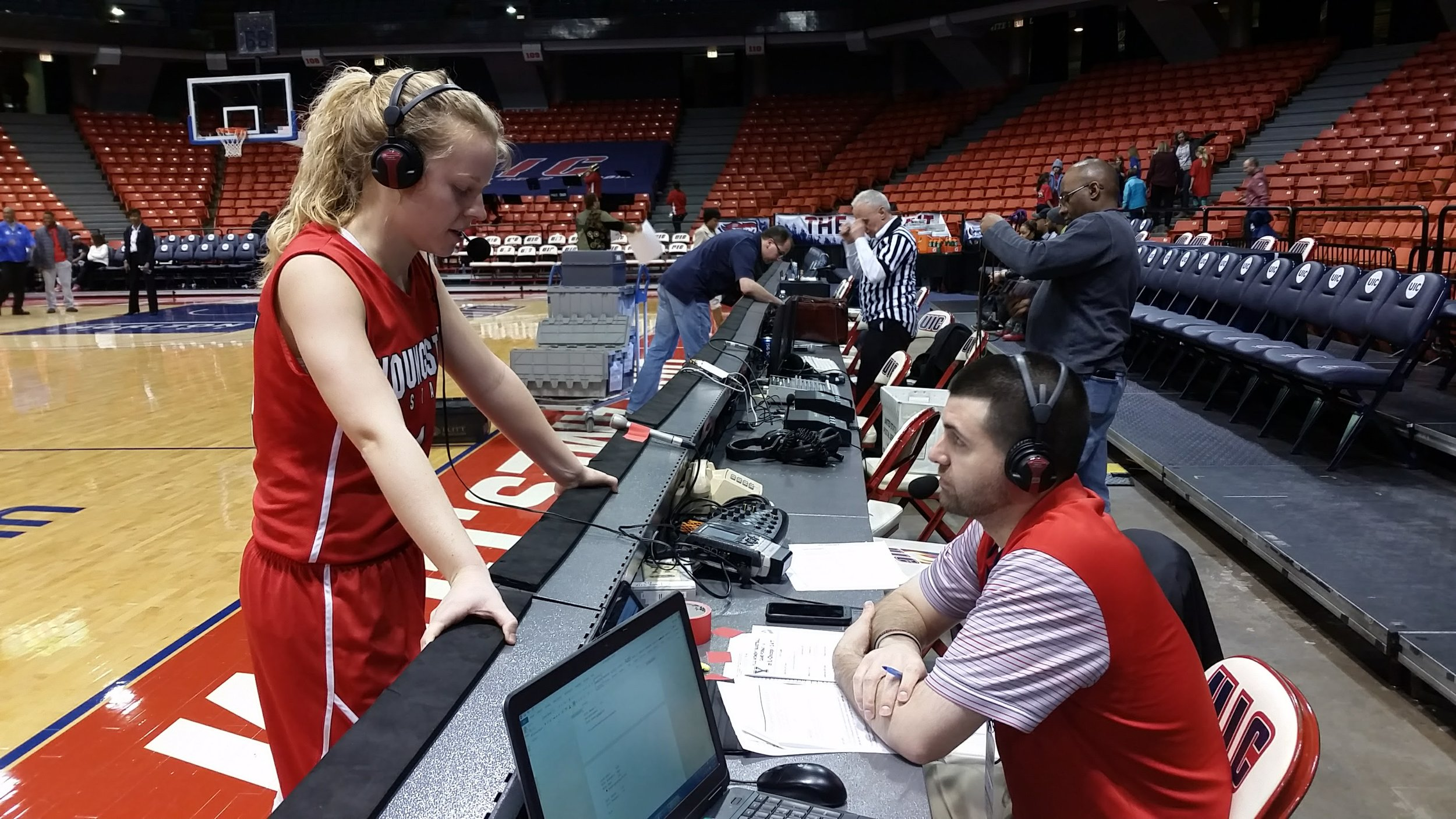 Postgame interview with Youngstown State Women's Basketball Player, Melinda Trimmer, after a win at UIC on February, 2017.