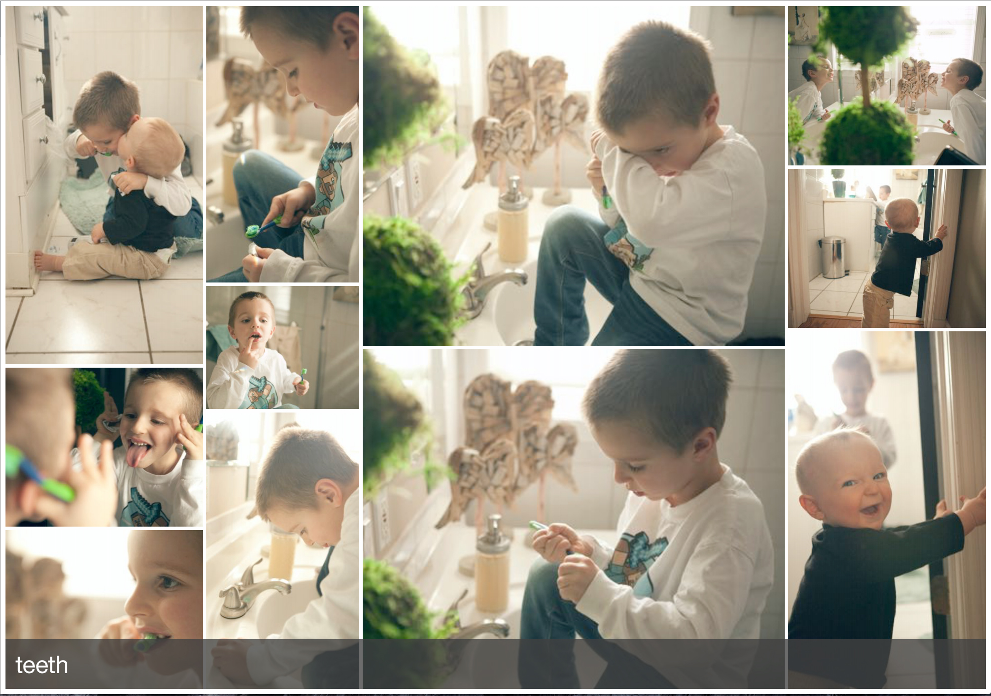 Capture a series of images that tell the story!