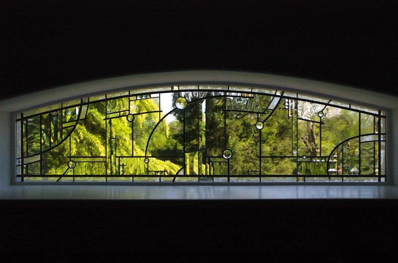 Contemporary leaded glass window