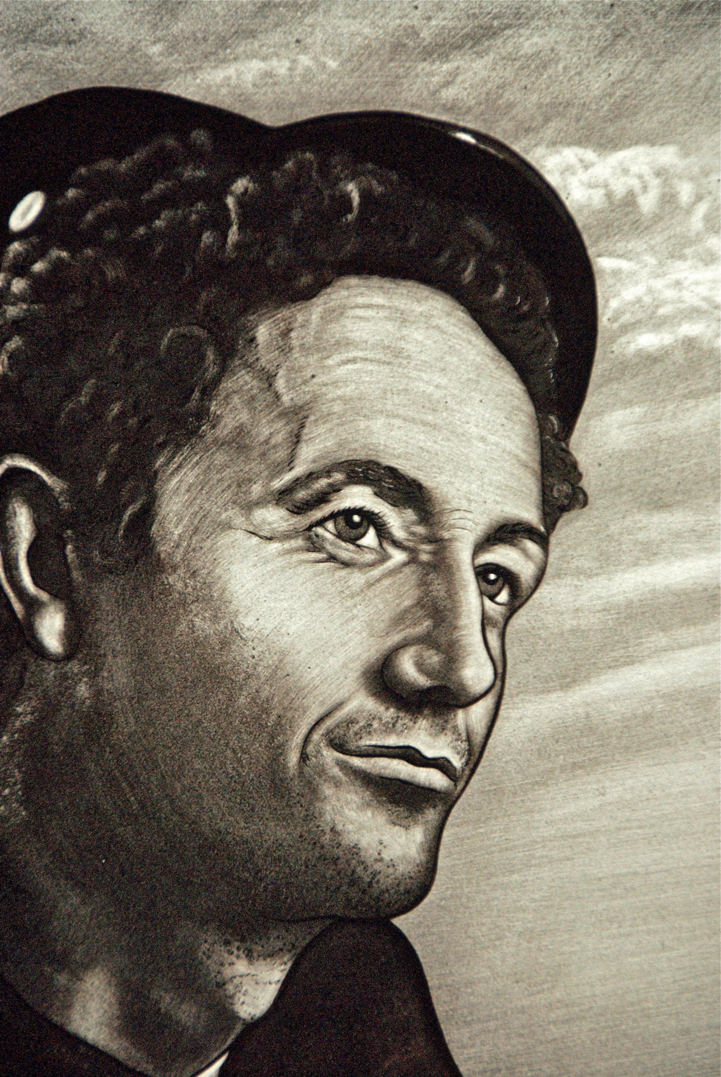 Woody Guthrie Portrait Detail