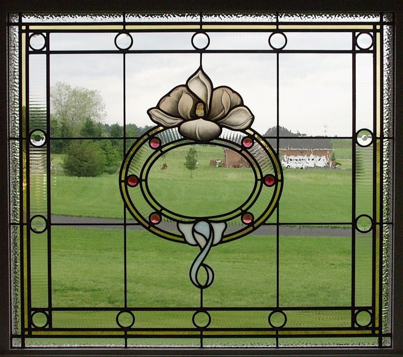 Magnolia stained glass window